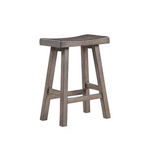 Quinn Weathered Brown 24-Inch Bar Stool