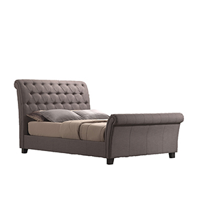 Vivian King Warm Stone King Upholstered Bed
