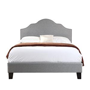 Whittier Full Light Gray Full Upholstered Bed