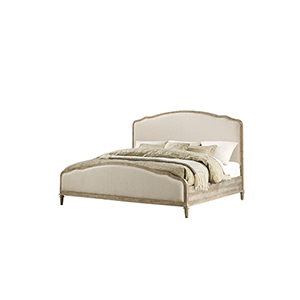 Grace King Sandstone Gray Curved King Bed