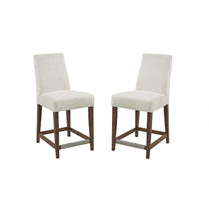 Linden Cream 40-Inch Bar Stool, Set Of 2