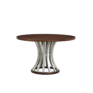 Afton Hickory Brown Round Gathering Height Dining Table