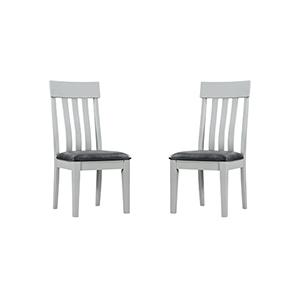 Afton Gray Mist Dining Chair, Set 0F 2