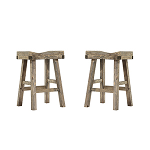 Hayden Reclaimed Pine Bar Stool, Set Of 2