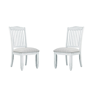 Grace Antique White Dining Chair, Set 0F 2