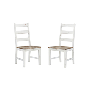 Quinn Country White Dining Chair, Set 0F 2