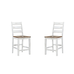 Quinn Country White Bar Stool, Set Of 2
