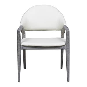 Linden Slate Gray Dining Arm Chair