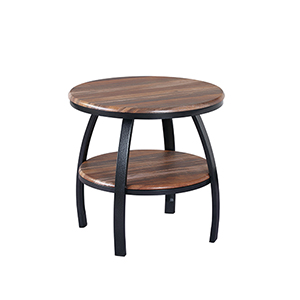Fulton Natural Wood Round End Table