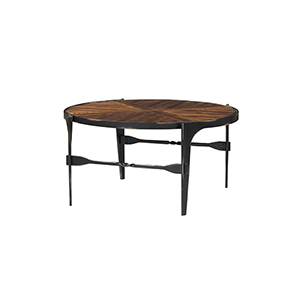 River Station Honeyed Amber Round Coffee Table