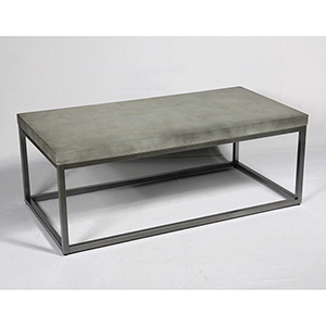River Station Aged Concrete-Look Coffee Table