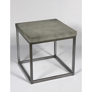 River Station Aged Concrete End Table