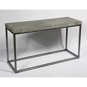 River Station Aged Concrete Sofa Table