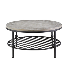 River Station Golden Oak Round Coffee Table