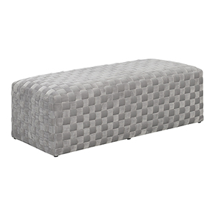 Vivian Granite Upholstered Bench