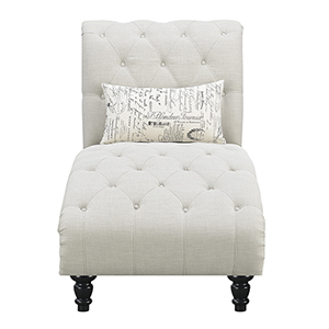 Vivian Ivory Chaise