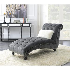 Vivian Charcoal Gray Chaise