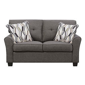 Selby Charcoal Brown Loveseat