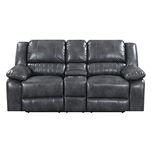 Selby Gray Reclining Loveseat