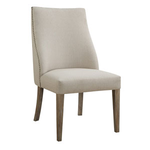 Grace Beige Side Chair Fully Upholstered, Set of 2