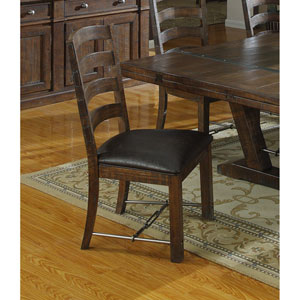 Afton Dining Chairs with Bonded Leather Seat, Set of 2