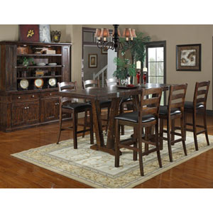 Castlegate Barstool Bonded Leather Seat, Set of 2