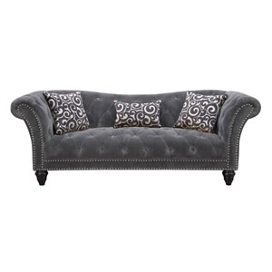 Hutton Sofa Nailhead w/2 Pillows and 1 Kidney Pillow