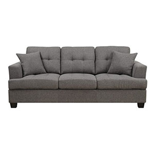 Clearview Sofa w/2 Pillows Grey