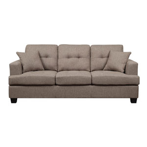Clearview Sofa w/2 Pillows Brown