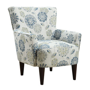 Flower Power Accent Chair Callaway-Teal