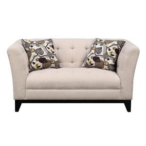 Marion Loveseat Cream w/2 Accent Pillows