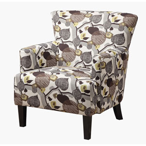 Marion Accent Chair w/Leaf Print
