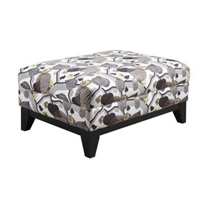 Marion Cocktail Ottoman w/Leaf