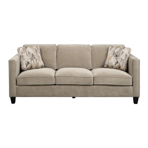 Focus Sofa Granite w/2 Accent Pillows