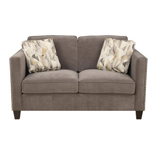 Focus Loveseat Charcoal w/2 Accent Pillows