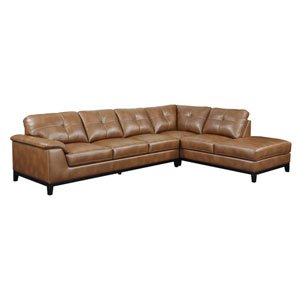 Marquis 2-Piece Sectional w/6 Seats Chestnut Pu