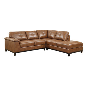 Marquis 2-Piece Sectional w/5 Seats Chestnut Pu