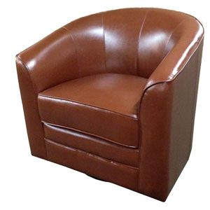 River Station Brown Swivel Chair