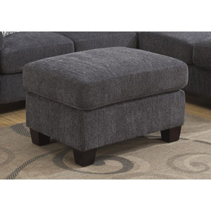 Selby Charcoal Ottoman