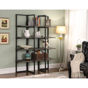 Emerald Home Atari Antique Gray 48-Inch Bookshelf