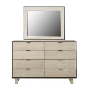 Emerald Home Synchrony Washed Linen Mirror