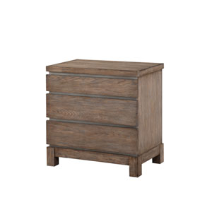 Emerald Home Vista 3 Drawer Weathered Gray Nightstand
