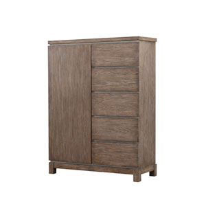 Emerald Home Vista Weathered Gray 5 Drawer and 1 Door Chest