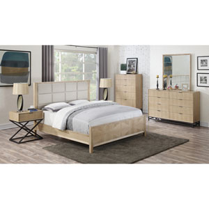 Aden Panel Bed with Upholstered Headboard