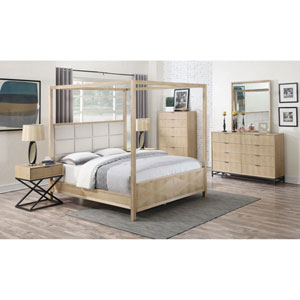 Aden Post Bed with Upholstered Headboard