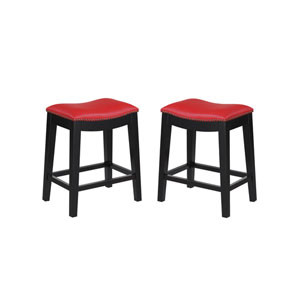 Selby Red 24 In. Barstool- Set of 2