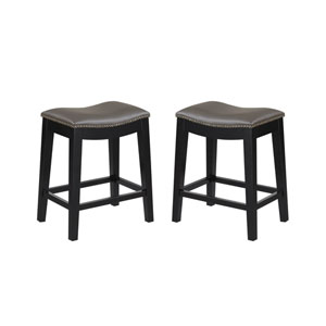 Emerald Home Briar 24-Inch Gray Barstool- Set of 2