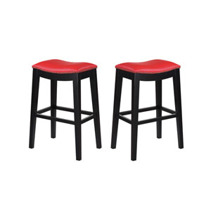 Selby Red 30-Inch Barstool- Set of 2