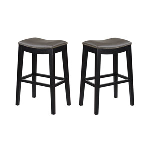 Selby Gray 30-Inch Barstool- Set of 2