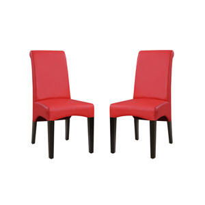Monroe Red Upholstered Dining Chair- Set of 2